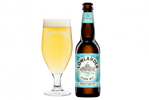 Lowlander Botanical Beers 0.00% Wit glass + bottle