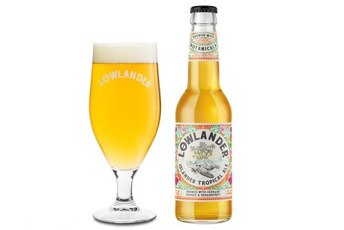 Lowlander Botanical Beers Islander glass + bottle