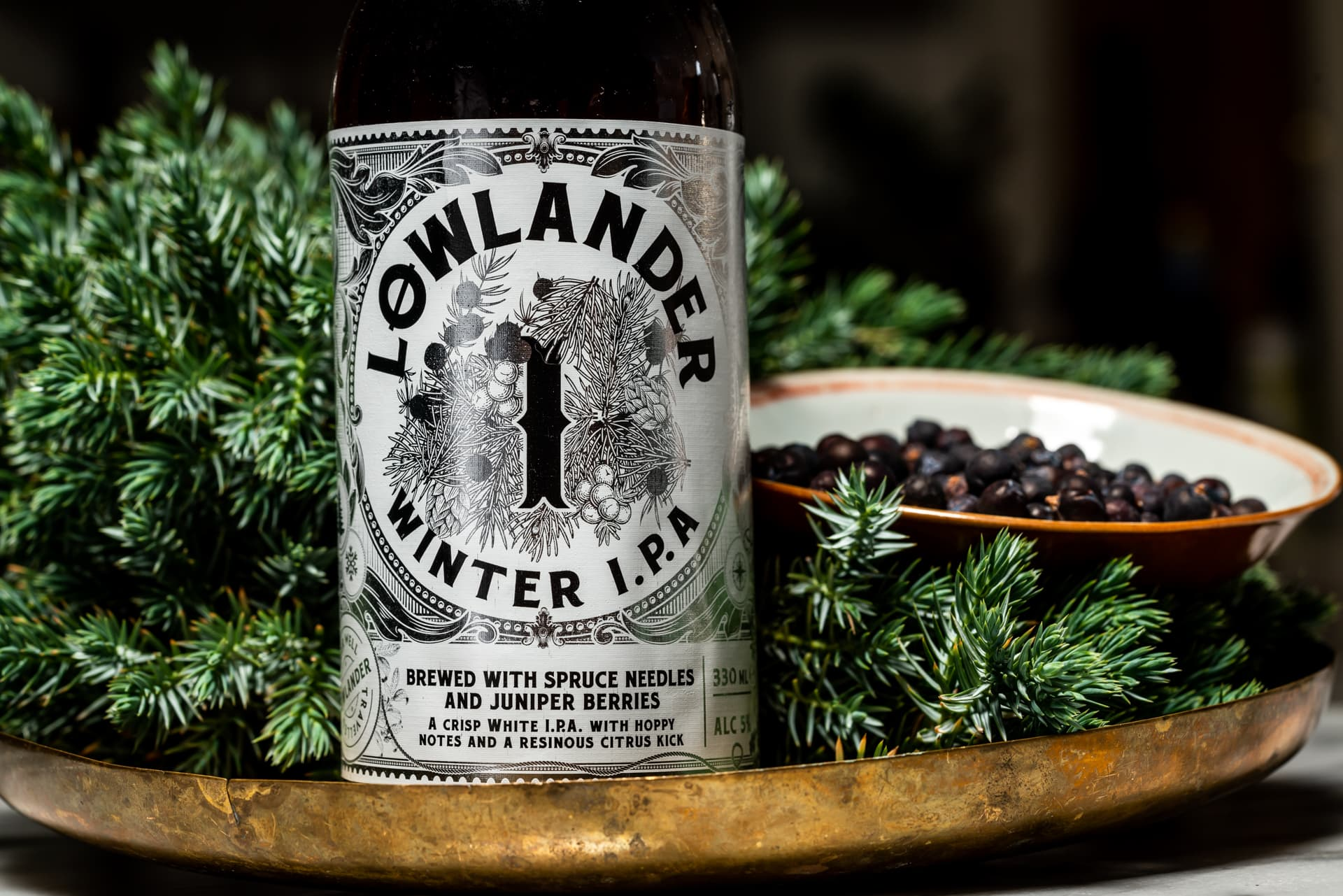 Lowlander Botanical Beers Winter IPA_label