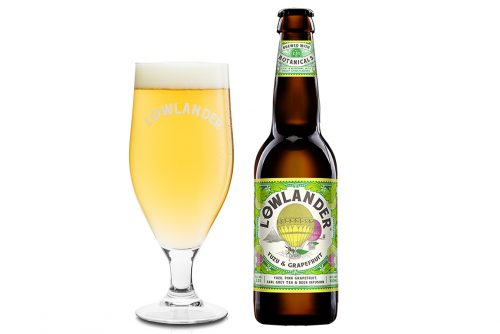 Lowlander Botanical Beers Yuzu glass + bottle