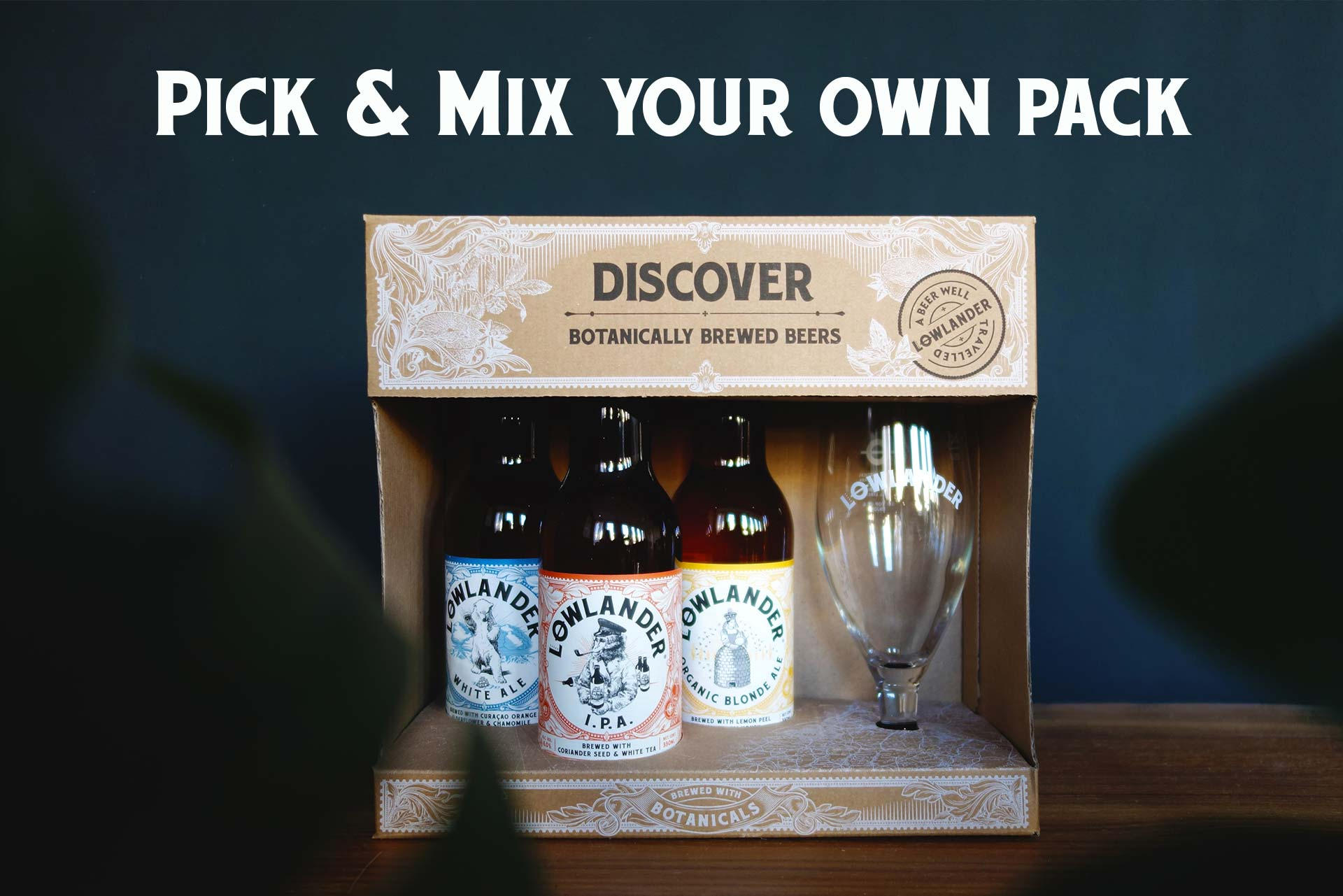 Pick&Mix 3+Glass Giftpack